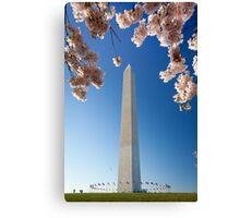 Springtime at Washington Monument Canvas Print