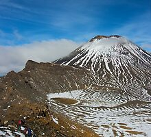 The Last Climb - Tongariro National Park, New Zealand by Phil McComiskey