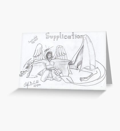 Supplication Greeting Card