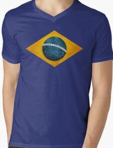 Brazil flag bresil brasil Mens V-Neck T-Shirt
