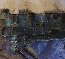 Carcassonne in Bronze by Marilyn Harris