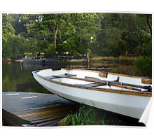 Boats at Risby Cove -Strahan -Tasmania Poster