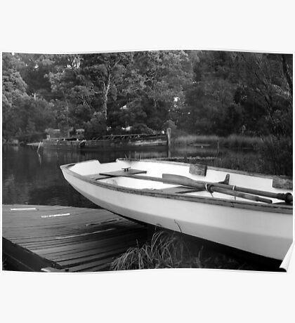 Boats at Risby Cove -Strahan -Tasmania  -  B&W Poster