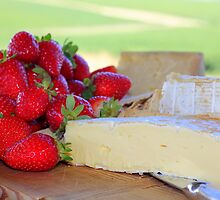 strawberries & cheese by thewhitecottage