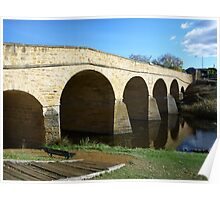 Oldest bridge in Australia-built 1823 - Tasmania Poster
