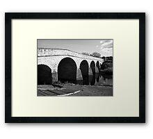 Oldest bridge in Australia-built 1823 - Tasmania  -  B&W Framed Print