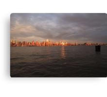 Gotham on the Hudson Canvas Print