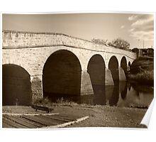 Oldest bridge in Australia-built 1823 - Tasmania  -  sepia Poster