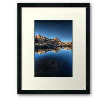 Blue Split Framed Print