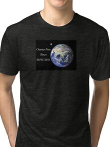 The World - Osama-Free Tri-blend T-Shirt