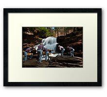 Nature Photographer at Work Framed Print