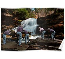 Nature Photographer at Work Poster
