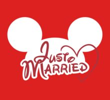 Just Married Mouse Ears by hocapontas