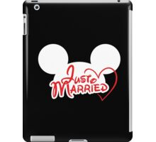 Just Married Mouse Ears iPad Case/Skin