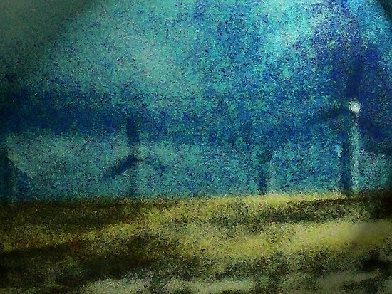 Windmills in Moonlight by Lenore Senior