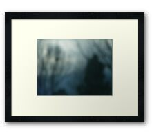 Man Walking in Shadows Framed Print