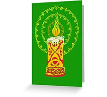 Celtic Candle Greeting Card