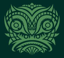 green tribal mask t-shirt by vectoria