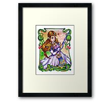 Zelda from The Legend of Zelda Framed Print