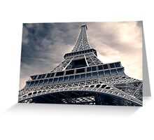 Towering  Eiffel  Greeting Card