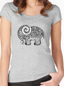 Elephant Doodle Women's Fitted Scoop T-Shirt