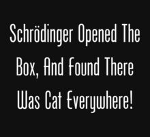 Schrodinger Opened The Box, And Found Cat Eveywhere! Kids Clothes