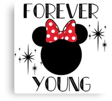 Forever Young Minnie Mouse Canvas Print