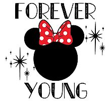 Forever Young Minnie Mouse Photographic Print