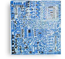 blue doodle Metal Print