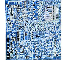 blue doodle Photographic Print