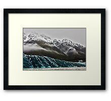 Mount tasman glacier Framed Print