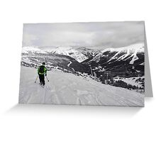 The Ski Club... Guiding into the Canadian Rockies Greeting Card