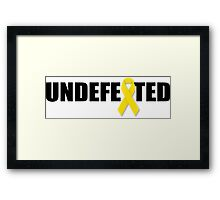 Undefeated By Cancer Framed Print
