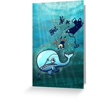 Whales are Furious! Greeting Card