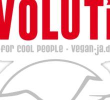 GO VEGAN REVOLUTION Sticker