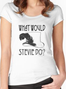 WHAT WOULD STEVIE NICKS DO - VINTAGE Women's Fitted Scoop T-Shirt
