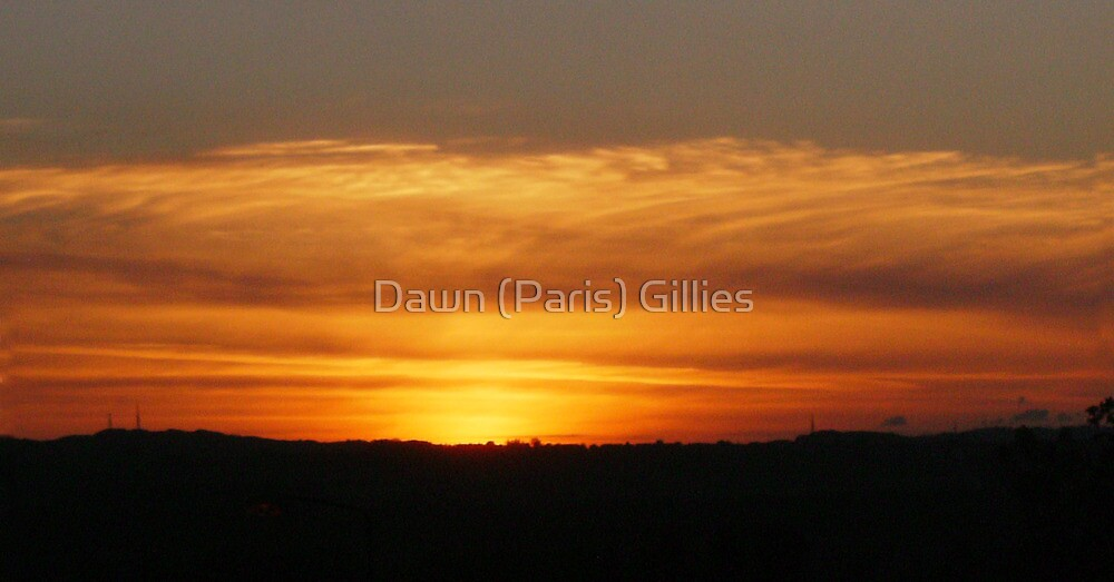 Sunset over The Lothians by Dawn (Paris) Gillies