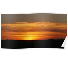 Sunset over The Lothians Poster