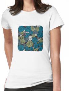 Spirals  Womens Fitted T-Shirt