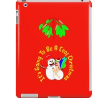 It's Going To Be A Cool Christmas, greeting card, etc. design iPad Case/Skin