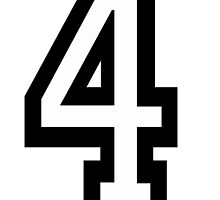 4, TEAM SPORTS, NUMBER 4, FOUR, FOURTH, Competition, Quatro by TOM HILL - Designer