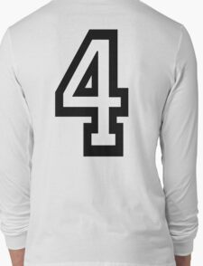 4, TEAM SPORTS, NUMBER 4, FOUR, FOURTH, Competition, Quatro Long Sleeve T-Shirt