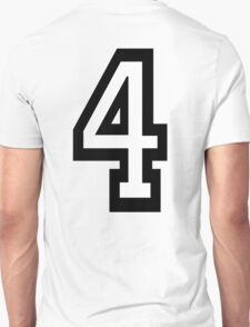 4, TEAM SPORTS, NUMBER 4, FOUR, FOURTH, Competition, Quatro T-Shirt