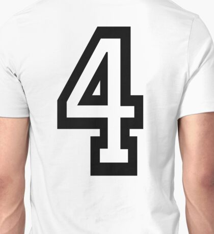 4, TEAM, SPORTS, NUMBER 4, FOUR, FOURTH, Competition, Quatro Unisex T-Shirt