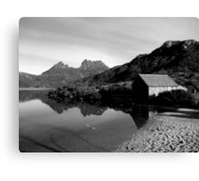 Old boat shed in Cradle Mountain  -Tasmania   -  B&W Canvas Print