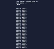 HELLO WORLD - 20 GOTO 10 by Geek Casuals