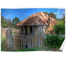 Beyer's Cottage, Hill End, NSW, Australia Poster