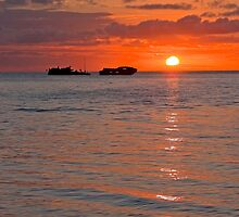 Heron Island Sunset - Great Barrier Reef - Australia by Anthony Wilson