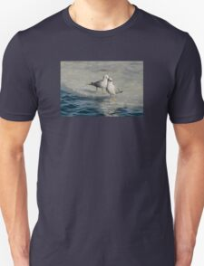 Pair of Gulls on Ice at Harbourfront, Toronto, Ontario T-Shirt