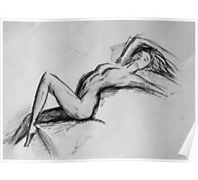 Recling Nude  Poster